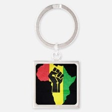 Pan Africa Square Keychain