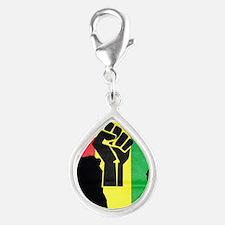Pan Africa Silver Teardrop Charm
