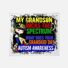 D Grandson Rocks The Spectrum Autism Throw Blanket