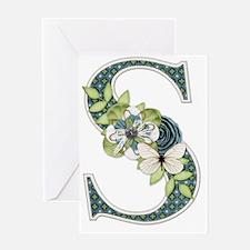 Monogram Letter S Greeting Card