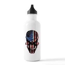 flag_skull_dark_Flag_L Water Bottle
