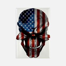 flag_skull_dark_Flag_Large Rectangle Magnet