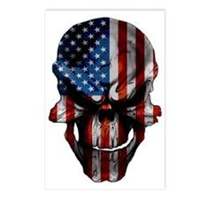 flag_skull_dark_Flag_Larg Postcards (Package of 8)