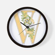 Monogram Letter W Wall Clock