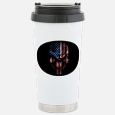 flag_skull_dark_Oval_Ta Thermos Mug