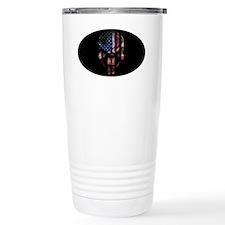 flag_skull_dark_Oval_Ta Travel Mug
