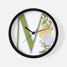 Monogram Letter M Wall Clock