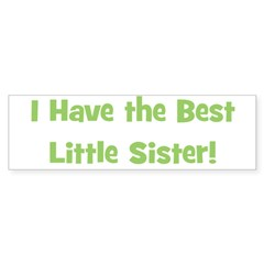 I Have The Best Little Sister Bumper Bumper Sticker