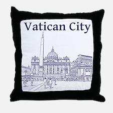 VaticanCity_12X12_SaintPetersSquare_1 Throw Pillow