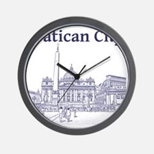 VaticanCity_12X12_SaintPetersSquare_1Bl Wall Clock