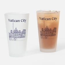 VaticanCity_12X12_SaintPetersSquare Drinking Glass
