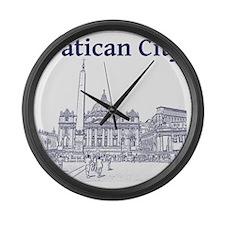 VaticanCity_12X12_SaintPetersSqua Large Wall Clock