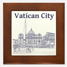 VaticanCity_12X12_SaintPetersSquare_1B Framed Tile