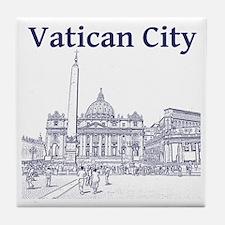 VaticanCity_12X12_SaintPetersSquare_1 Tile Coaster