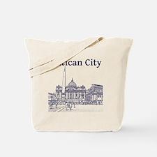 VaticanCity_12X12_SaintPetersSquare_1Blue Tote Bag
