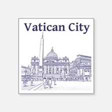 "VaticanCity_12X12_SaintPete Square Sticker 3"" x 3"""