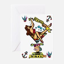 pin up,bottoms up! Greeting Card