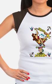pin up,bottoms up! Women's Cap Sleeve T-Shirt