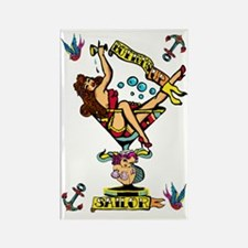pin up,bottoms up! Rectangle Magnet