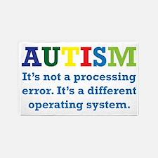 Autism awarness 3'x5' Area Rug