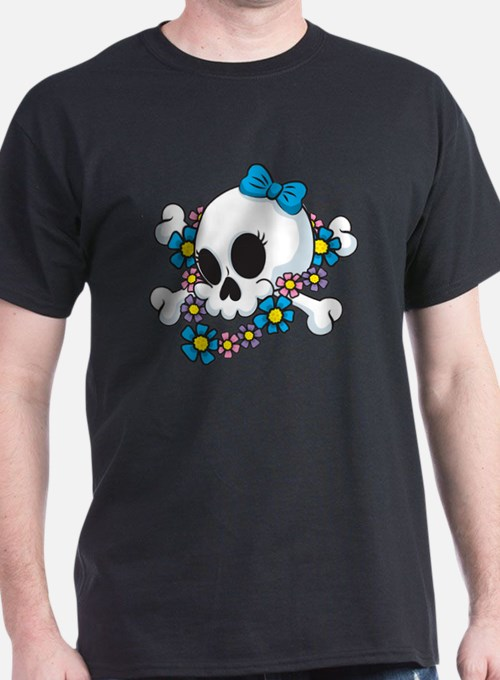 Flower Power Skull T-Shirt