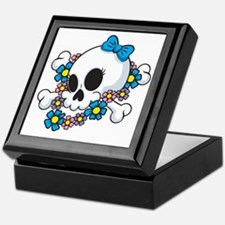 Flower Power Skull Keepsake Box