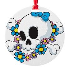 Flower Power Skull Ornament