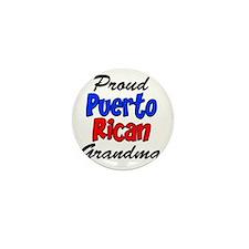 Proud Puerto Rican Grandma Glass Mini Button