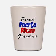 Proud Puerto Rican Grandma Glass Shot Glass