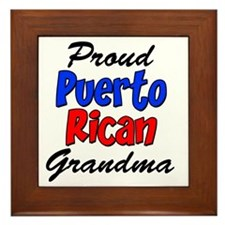 Proud Puerto Rican Grandma Glass Framed Tile