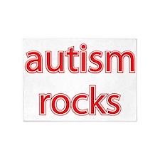 Autism rocks 5'x7'Area Rug