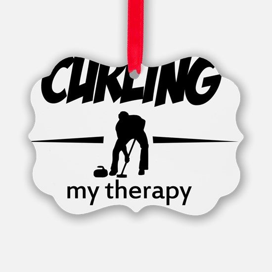 Curling my therapy Ornament