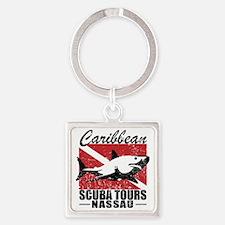 Caribbean Scuba Tours Square Keychain