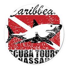 Caribbean Scuba Tours Round Car Magnet