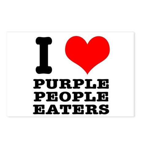 I Heart (Love) Purple People Eaters Postcards (Pac