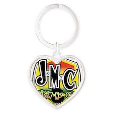 JMC Badge2 Heart Keychain