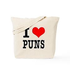 I Heart (Love) Puns Tote Bag