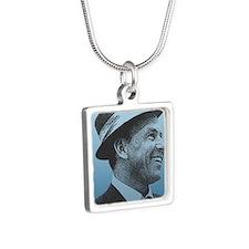 SINATRA: Confidence Is Kin Silver Square Necklace