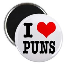 "I Heart (Love) Puns 2.25"" Magnet (10 pack)"