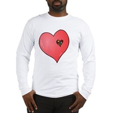 Autism is in my heart Long Sleeve T-Shirt