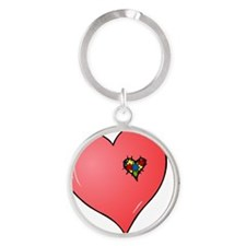 Autism is in my heart Round Keychain