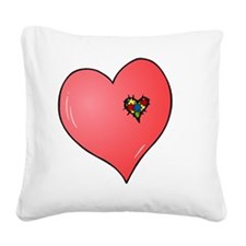 Autism is in my heart Square Canvas Pillow