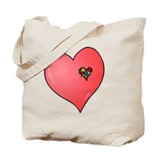 Autism is in my heart Tote Bag