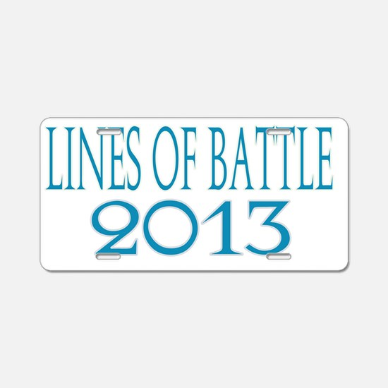 Lines of Battle Aluminum License Plate