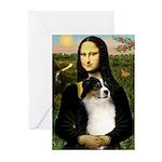 MonaLisa-Tri Aussie Shep2 Greeting Cards (Pk of 10