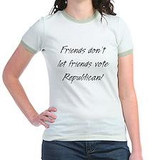 Friends don't let friends Women's Ringer