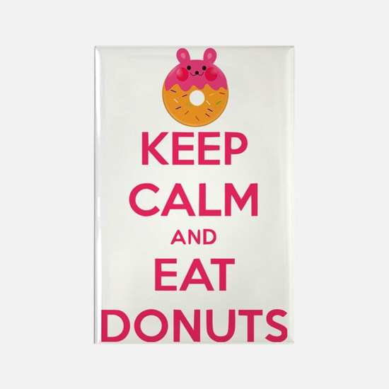 Keep Calm And Eat Donuts Rectangle Magnet
