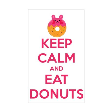 Keep Calm And Eat Donuts Sticker (Rectangle)