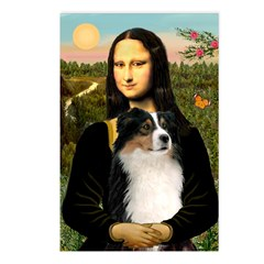 MonaLisa-Tri Aussie Shep2 Postcards (Package of 8)