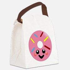 Cute Donut face Canvas Lunch Bag